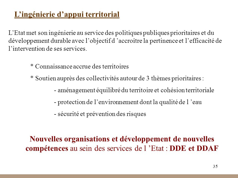 L'ingénierie d'appui territorial