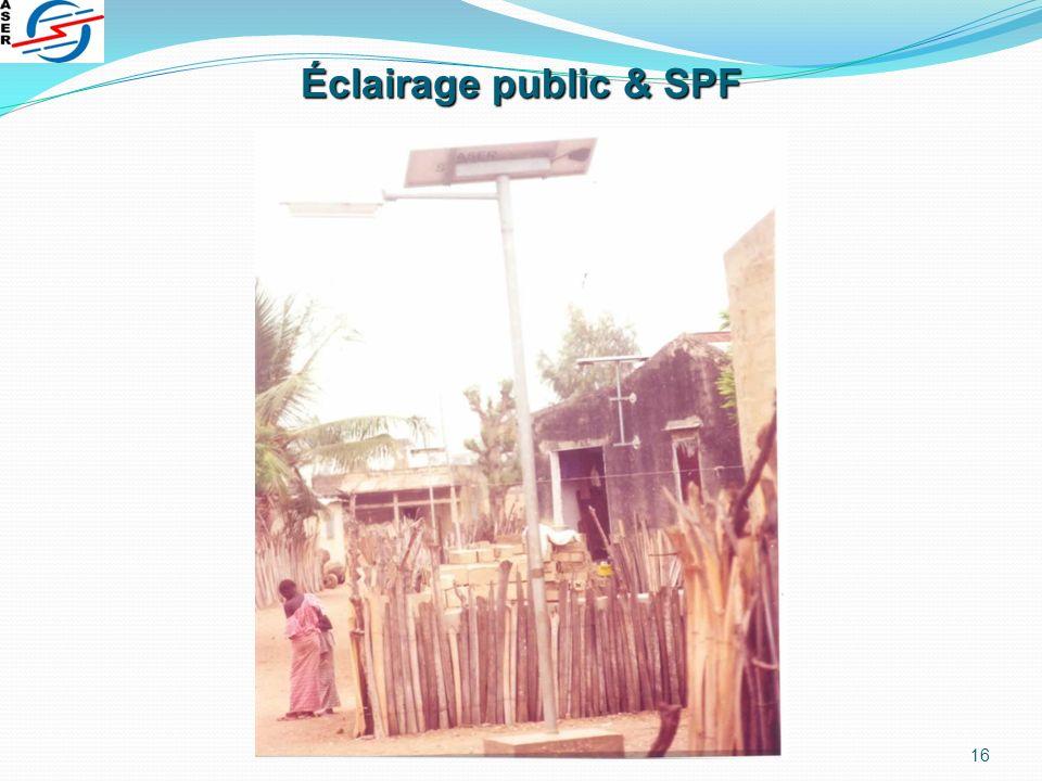 Éclairage public & SPF