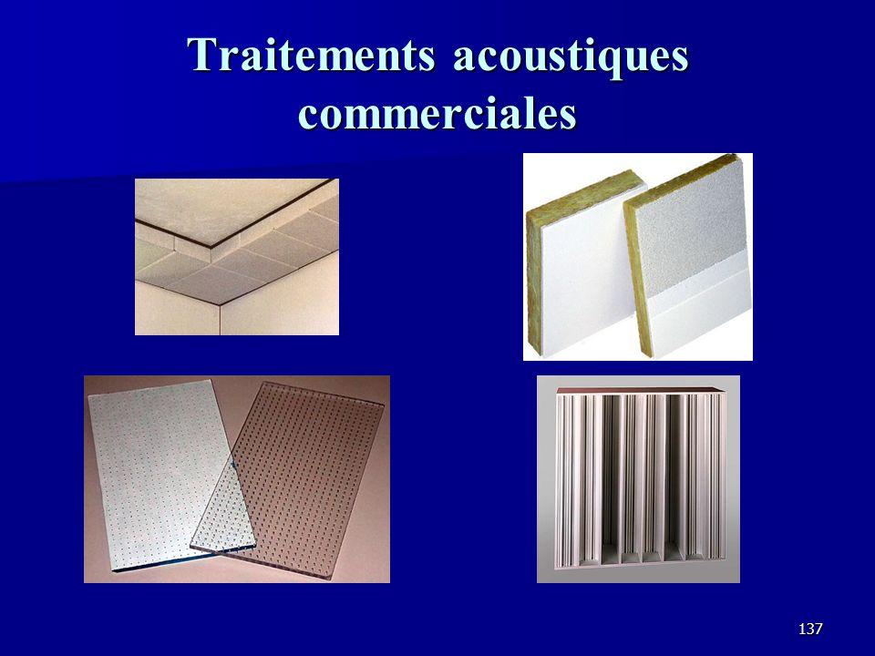 Traitements acoustiques commerciales