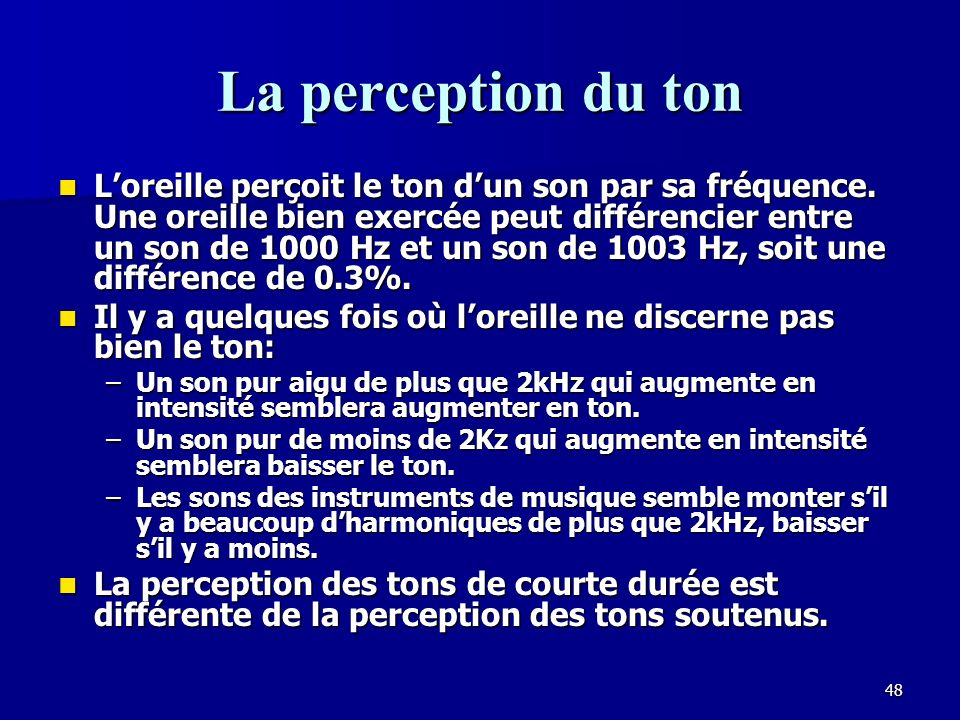 La perception du ton
