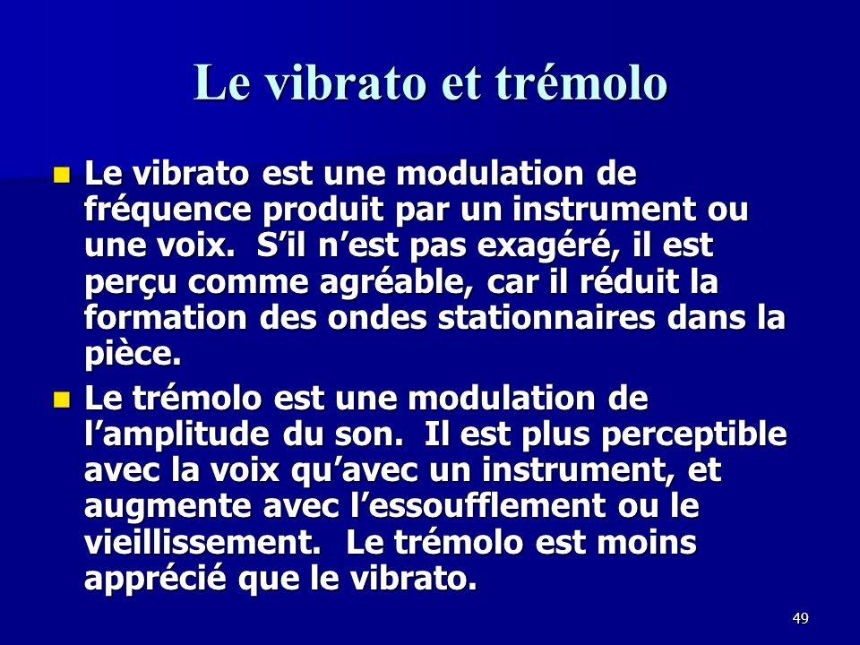 Le vibrato et trémolo