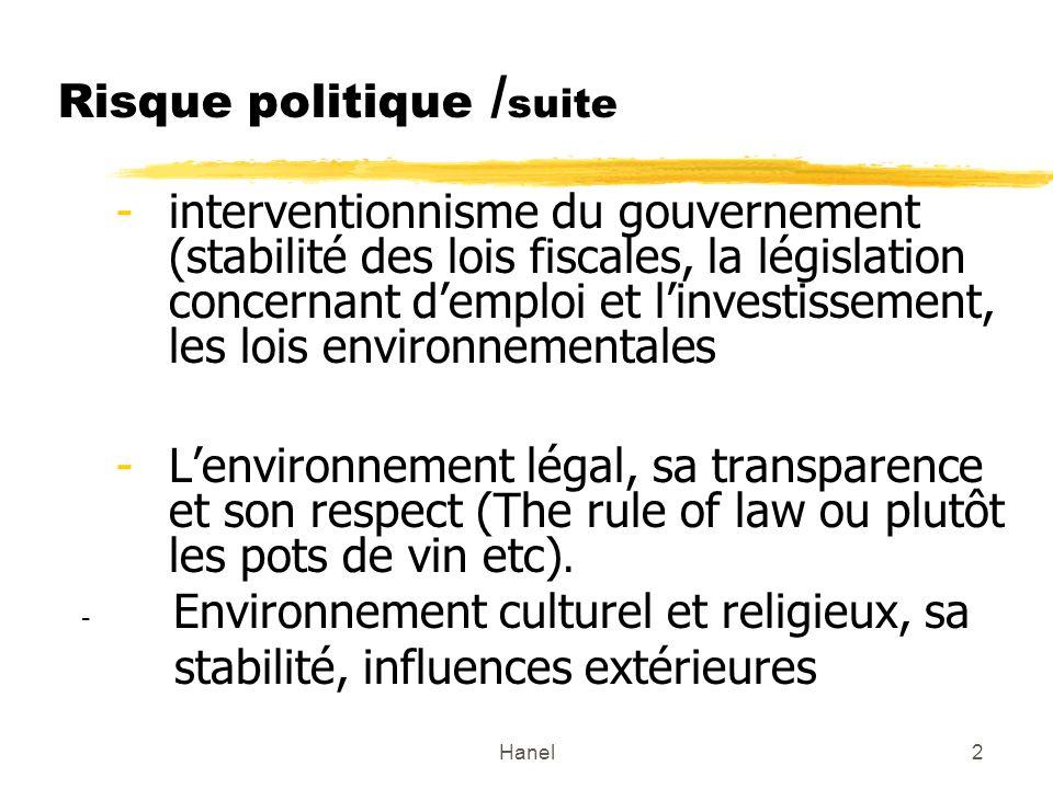 Risque politique /suite