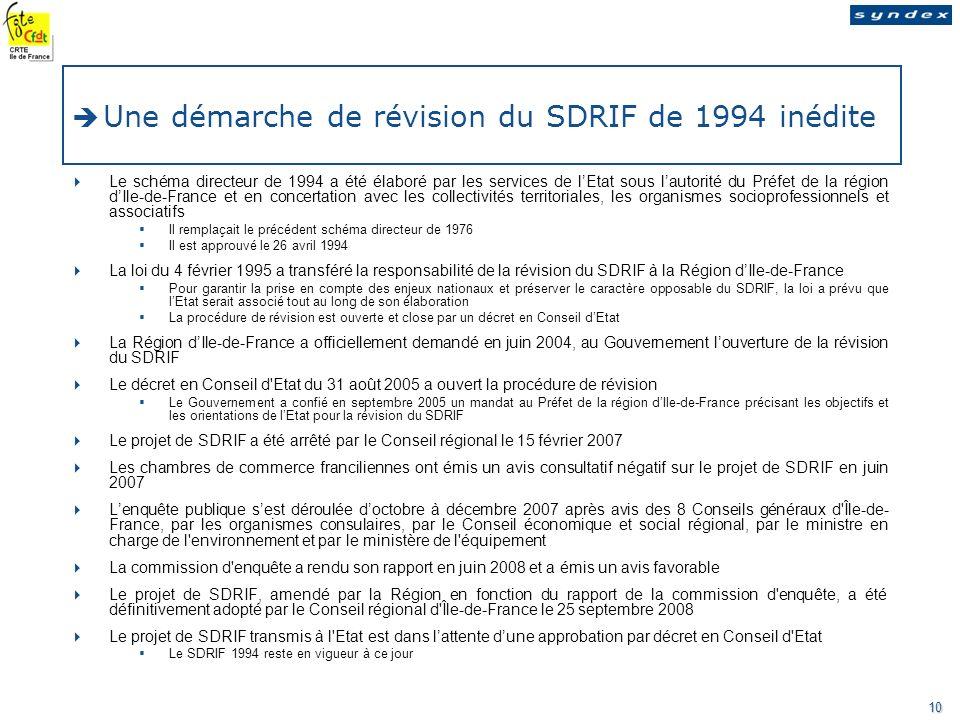 Une démarche de révision du SDRIF de 1994 inédite