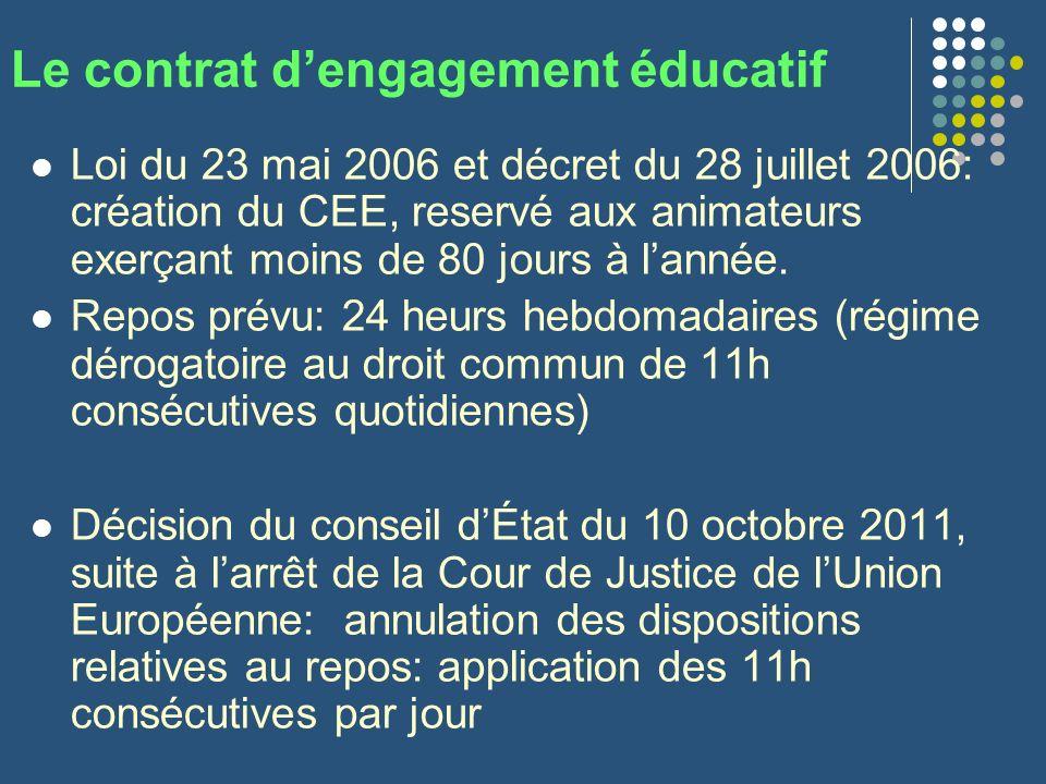 Le contrat d'engagement éducatif