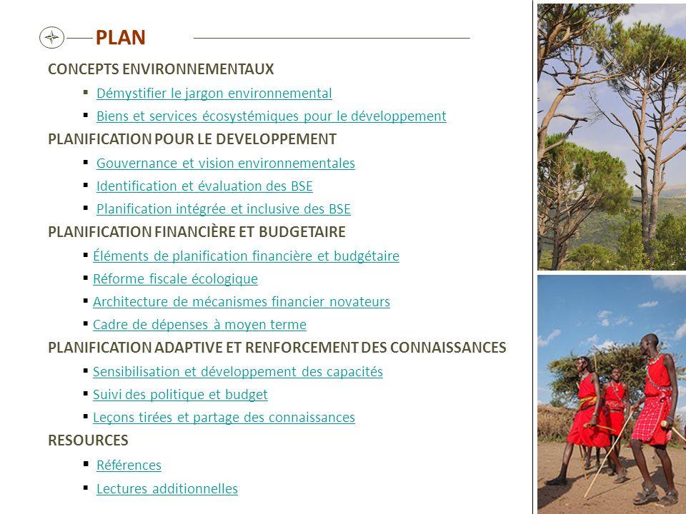 PLAN  CONCEPTS ENVIRONNEMENTAUX PLANIFICATION POUR LE DEVELOPPEMENT