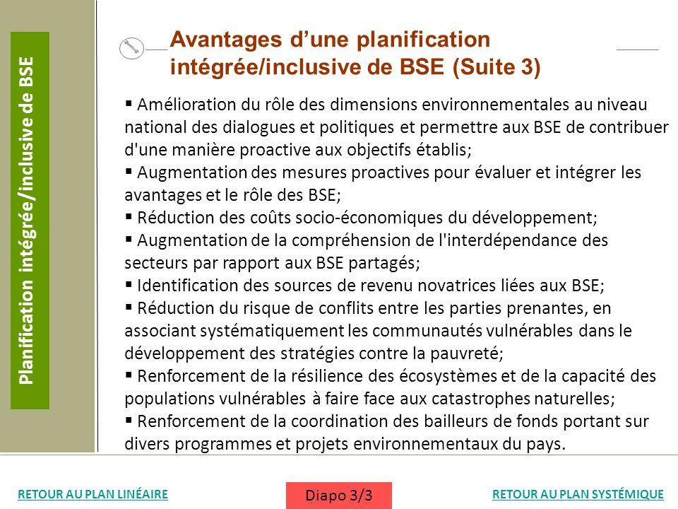 Planification intégrée/inclusive de BSE
