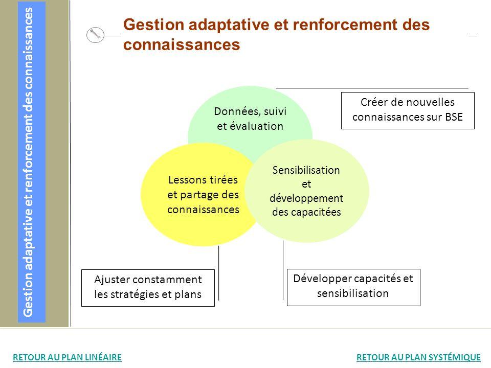 Gestion adaptative et renforcement des connaissances