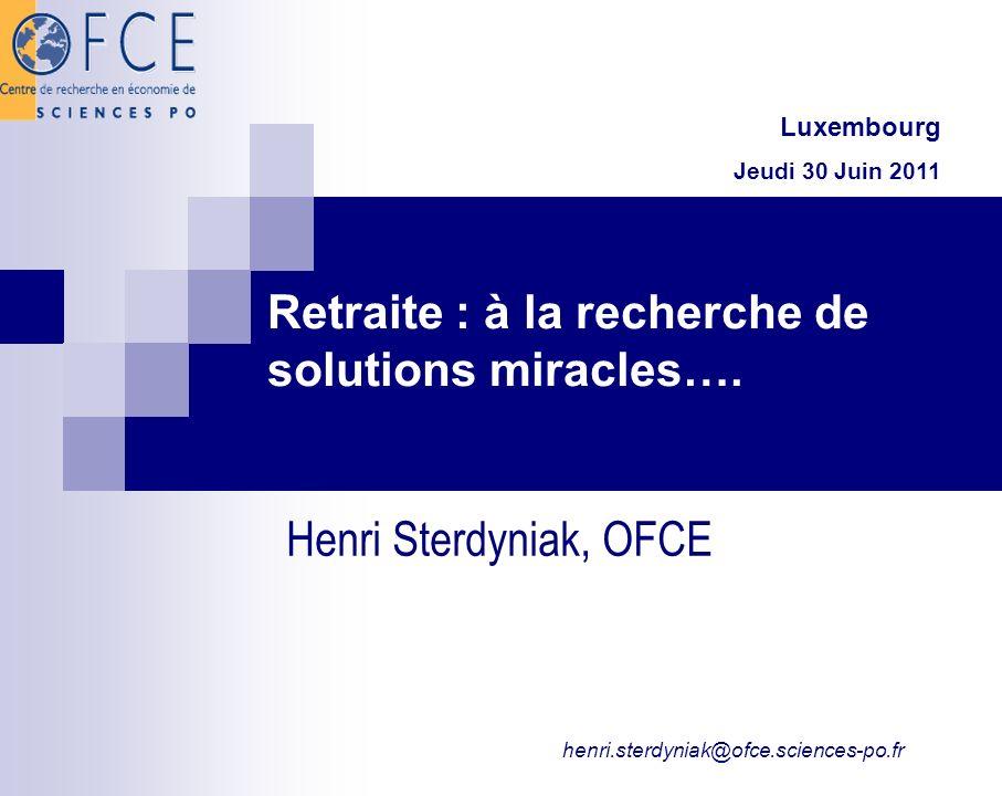 Retraite : à la recherche de solutions miracles….