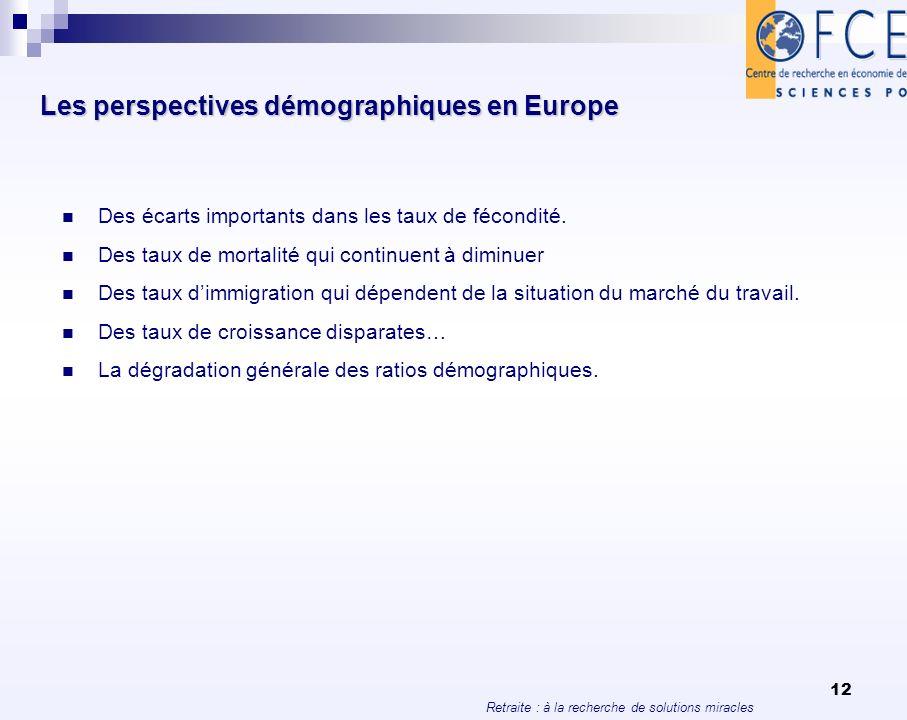 Les perspectives démographiques en Europe