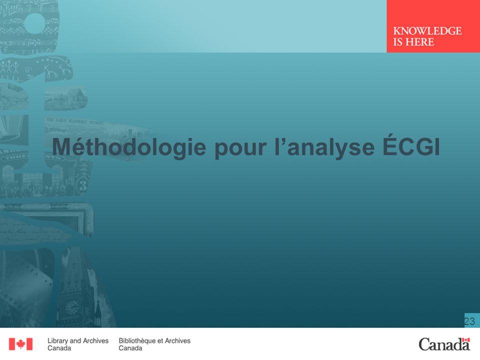 Méthodologie pour l'analyse ÉCGI