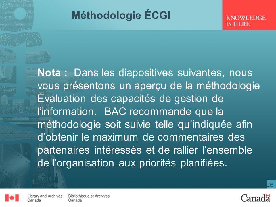Méthodologie ÉCGI