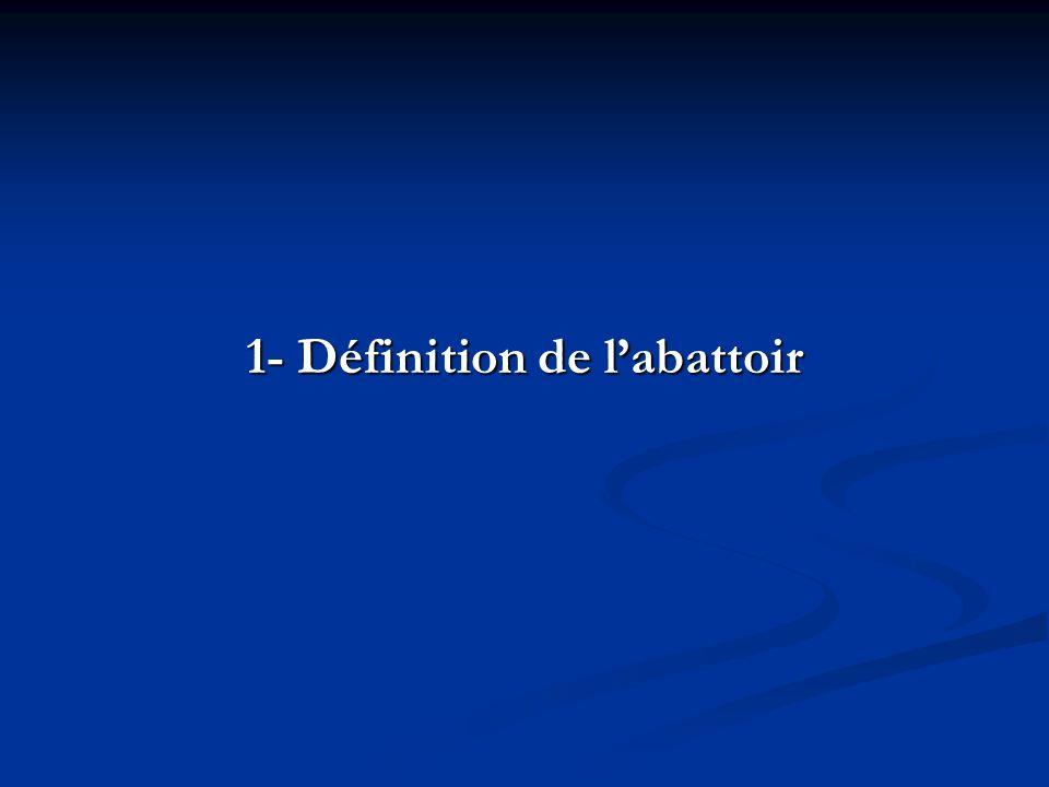 1- Définition de l'abattoir