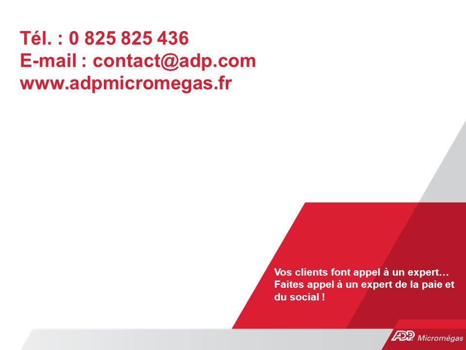Tél. : 0 825 825 436 E-mail : contact@adp.com www.adpmicromegas.fr
