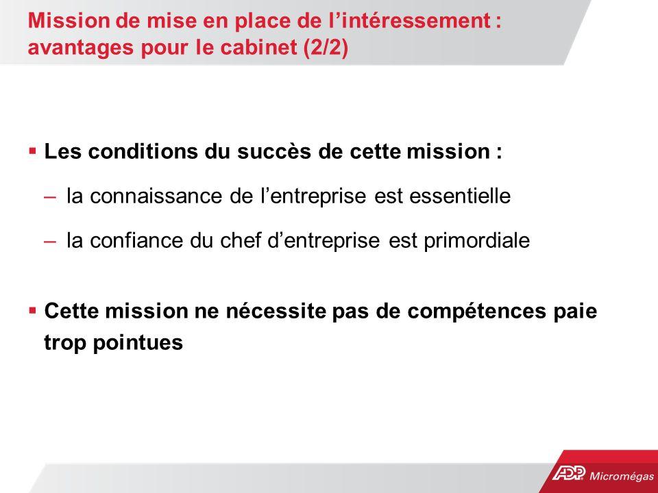 Mission de mise en place de l'intéressement : avantages pour le cabinet (2/2)