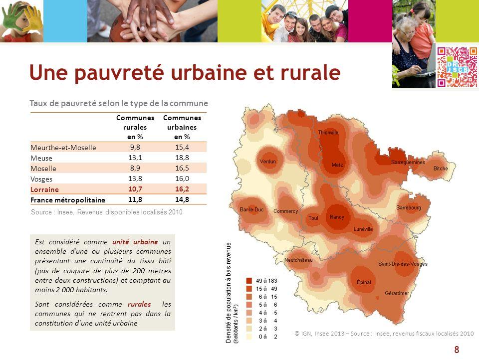 Une pauvreté urbaine et rurale
