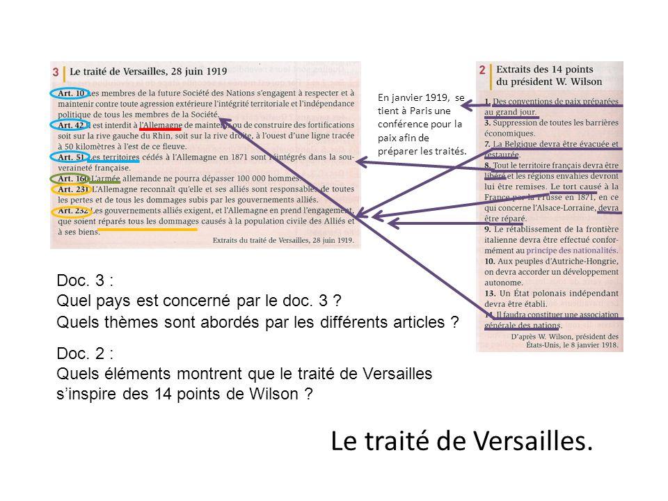 Le traité de Versailles.