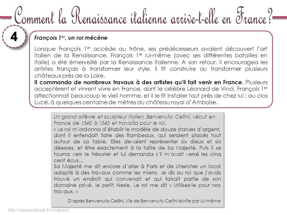 Comment la Renaissance italienne arrive-t-elle en France