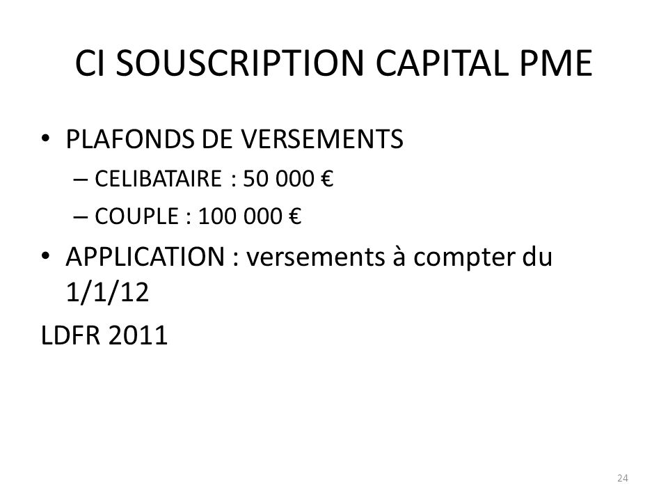 CI SOUSCRIPTION CAPITAL PME