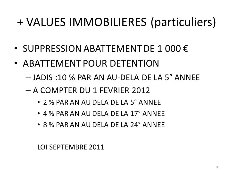 + VALUES IMMOBILIERES (particuliers)