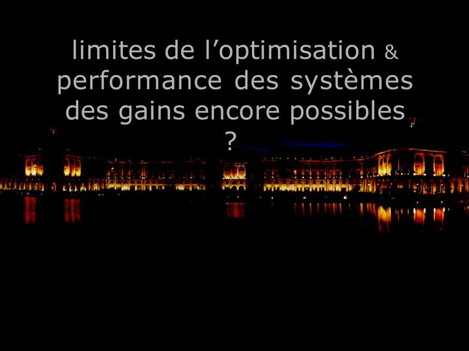 limites de l'optimisation & performance des systèmes
