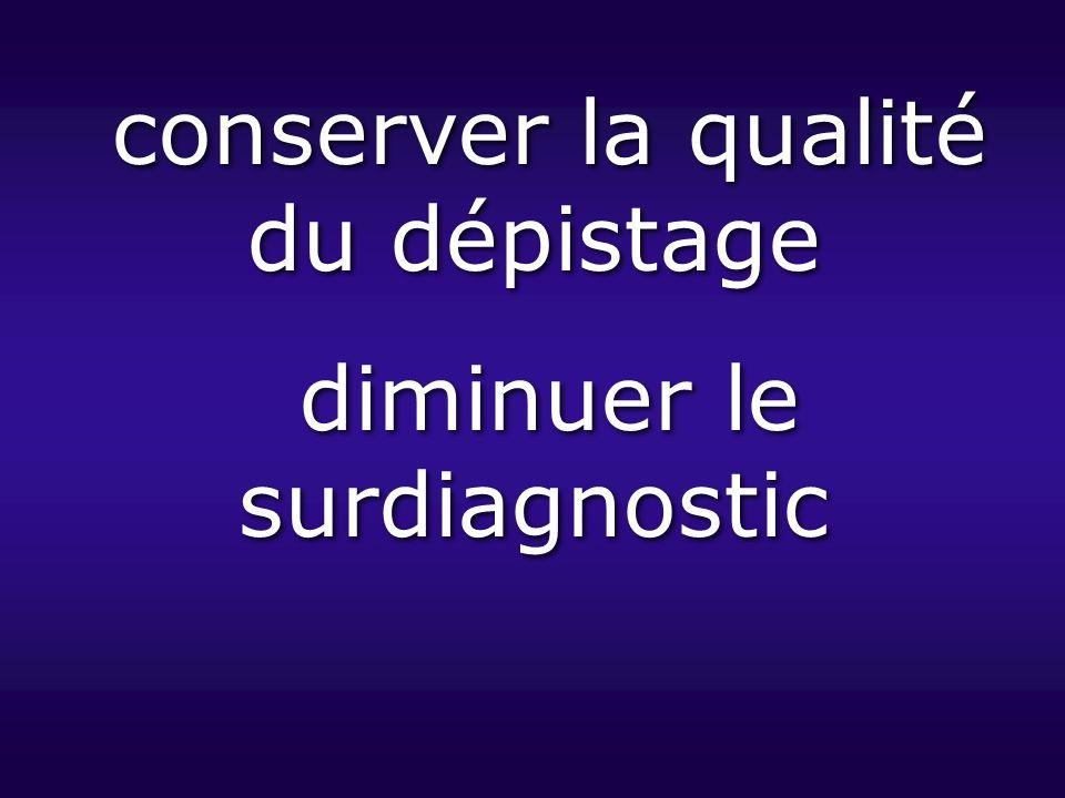 conserver la qualité du dépistage diminuer le surdiagnostic
