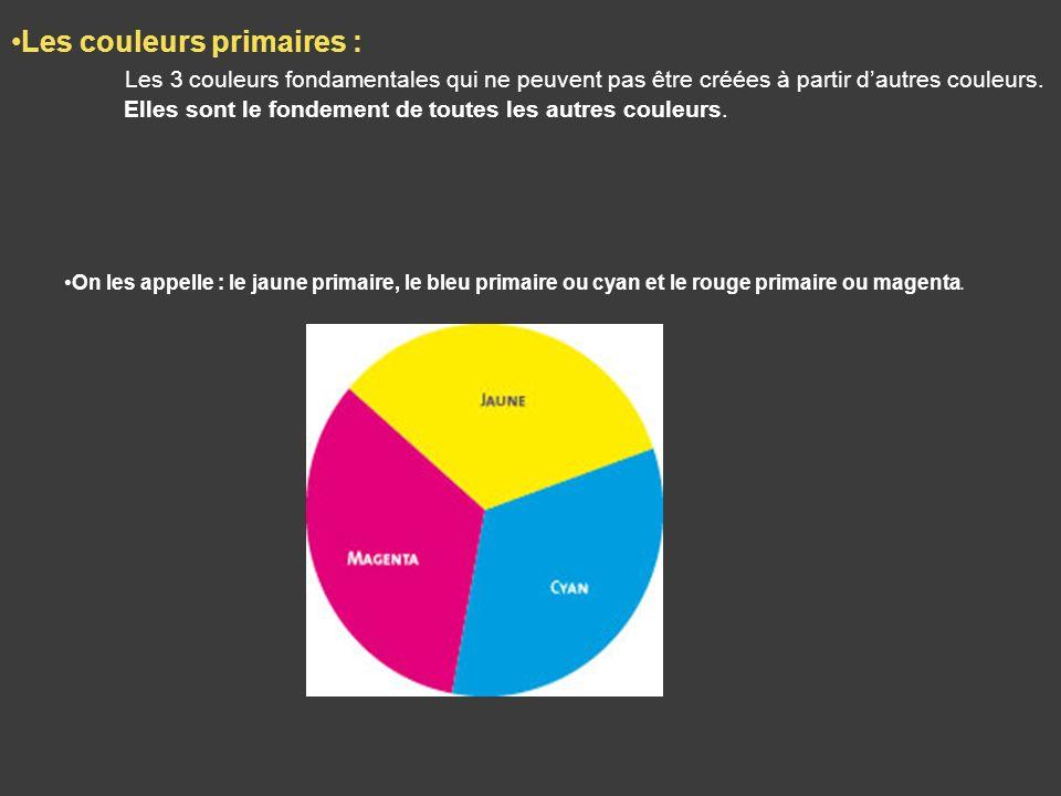 Les couleurs primaires :