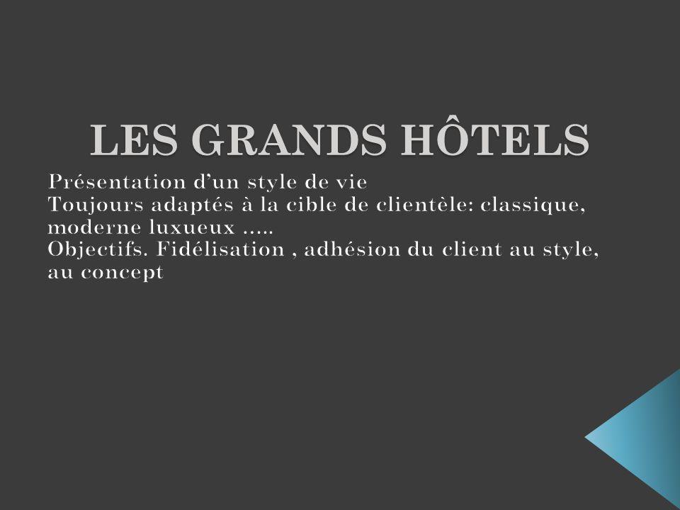 Les grands hôtels Présentation d'un style de vie