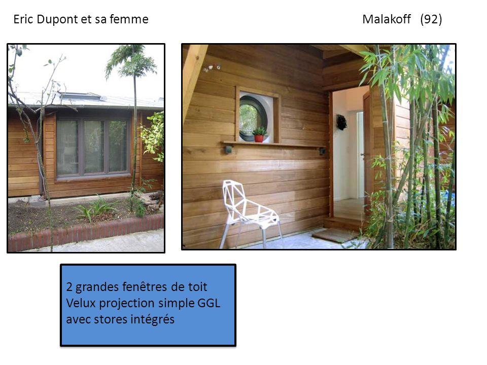 Eric Dupont et sa femme Malakoff (92) 2 grandes fenêtres de toit Velux projection simple GGL avec stores intégrés.