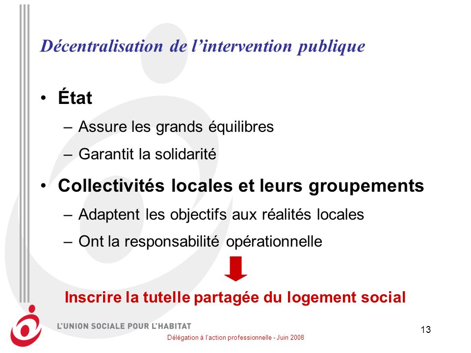 Décentralisation de l'intervention publique