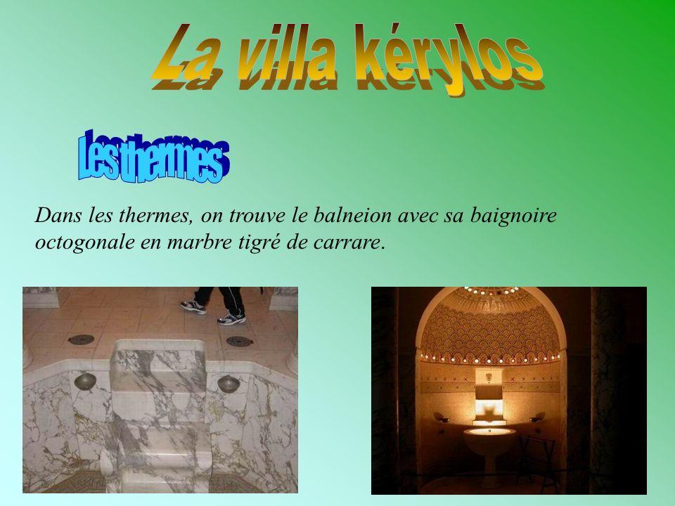 La villa kérylos Les thermes