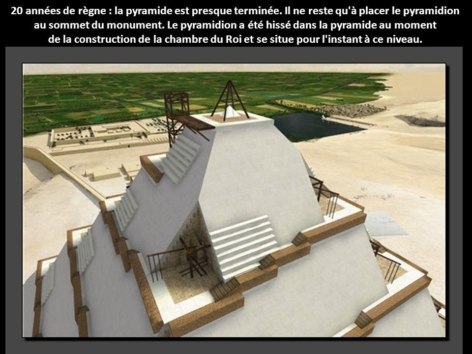 20 années de règne : la pyramide est presque terminée