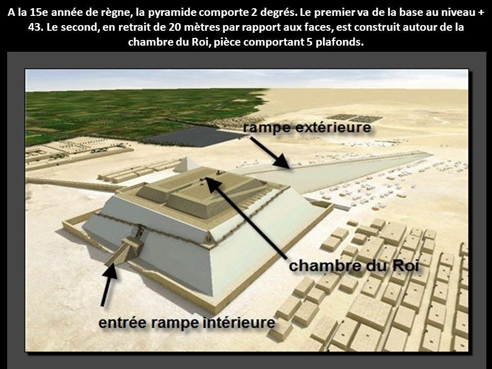 A la 15e année de règne, la pyramide comporte 2 degrés