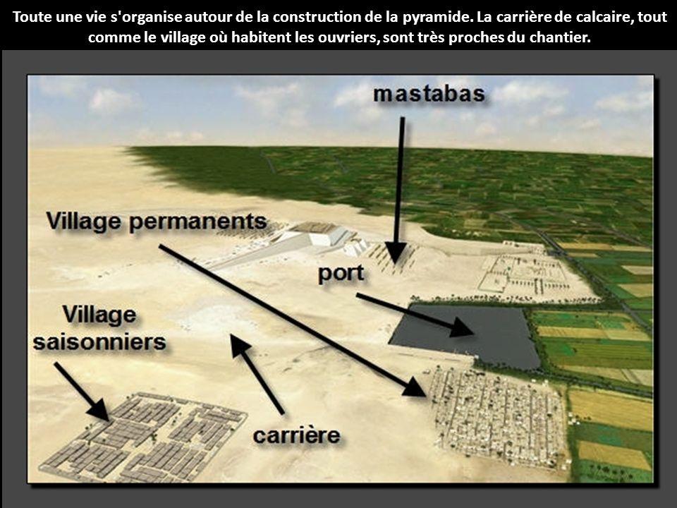 Toute une vie s organise autour de la construction de la pyramide
