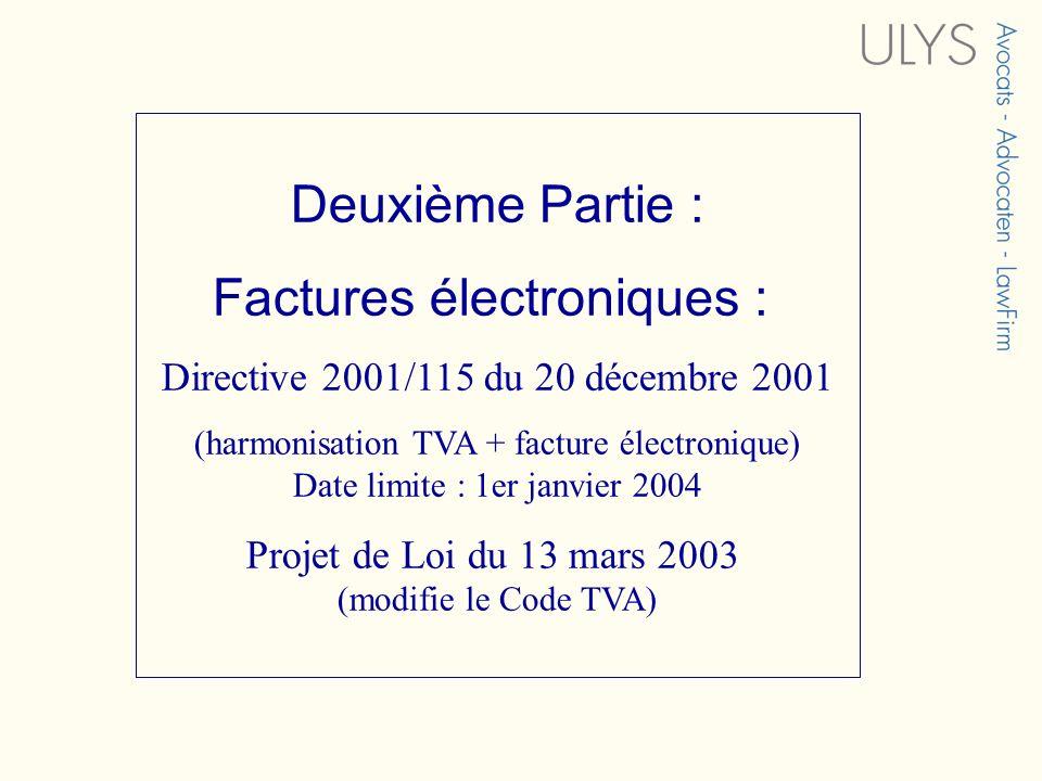 Factures électroniques :