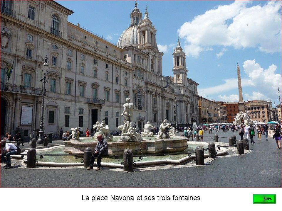 La place Navona et ses trois fontaines