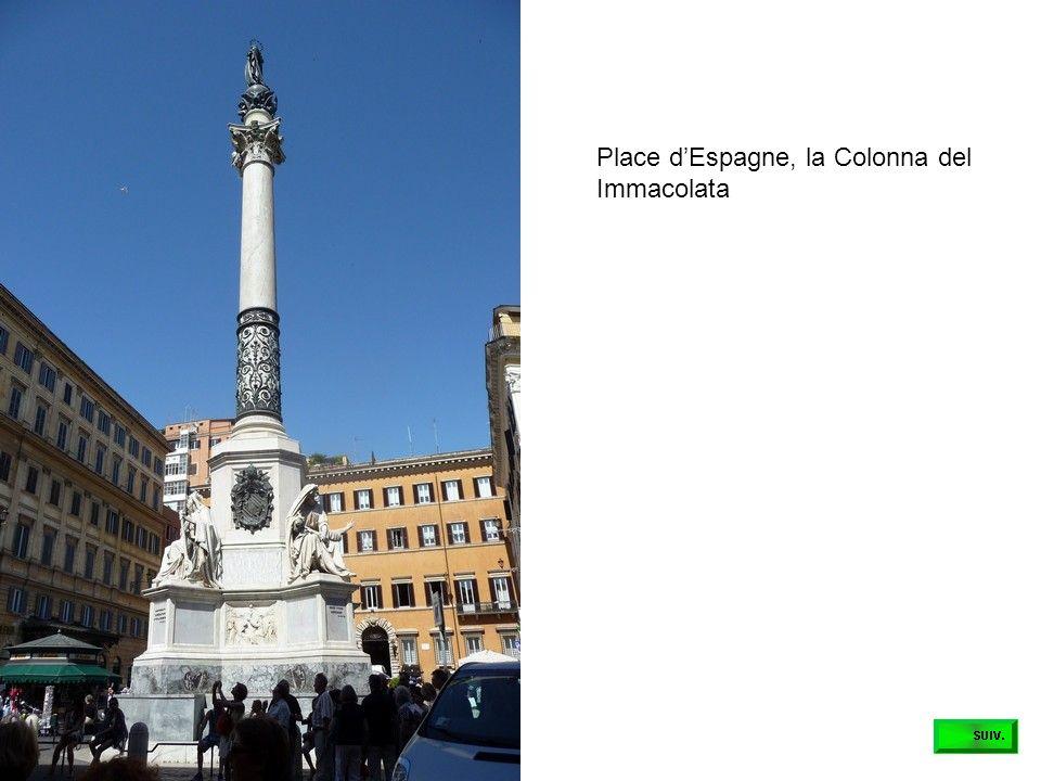 Place d'Espagne, la Colonna del Immacolata