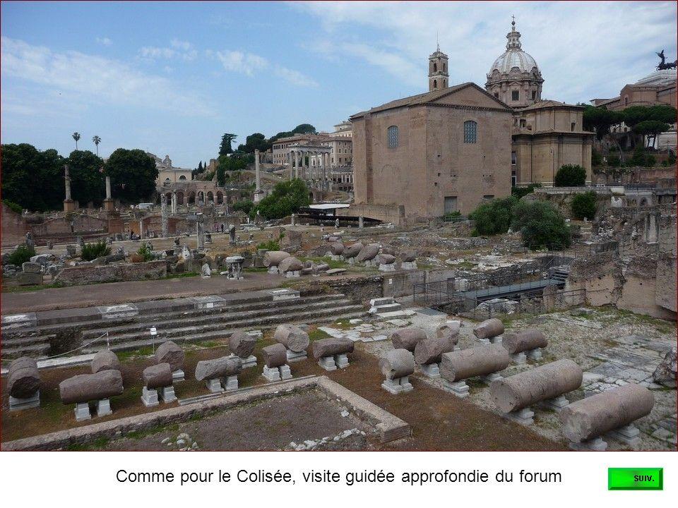 Comme pour le Colisée, visite guidée approfondie du forum