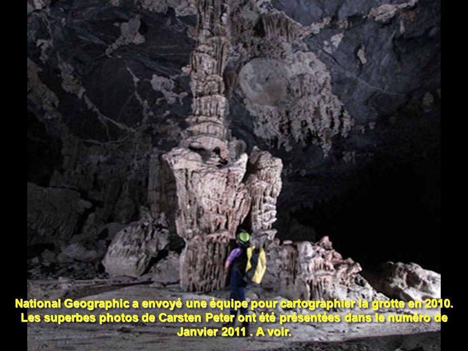 National Geographic a envoyé une équipe pour cartographier la grotte en 2010.