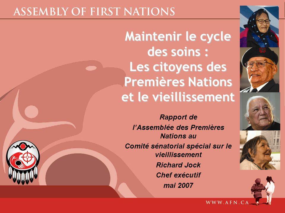 Maintenir le cycle des soins : Les citoyens des Premières Nations et le vieillissement
