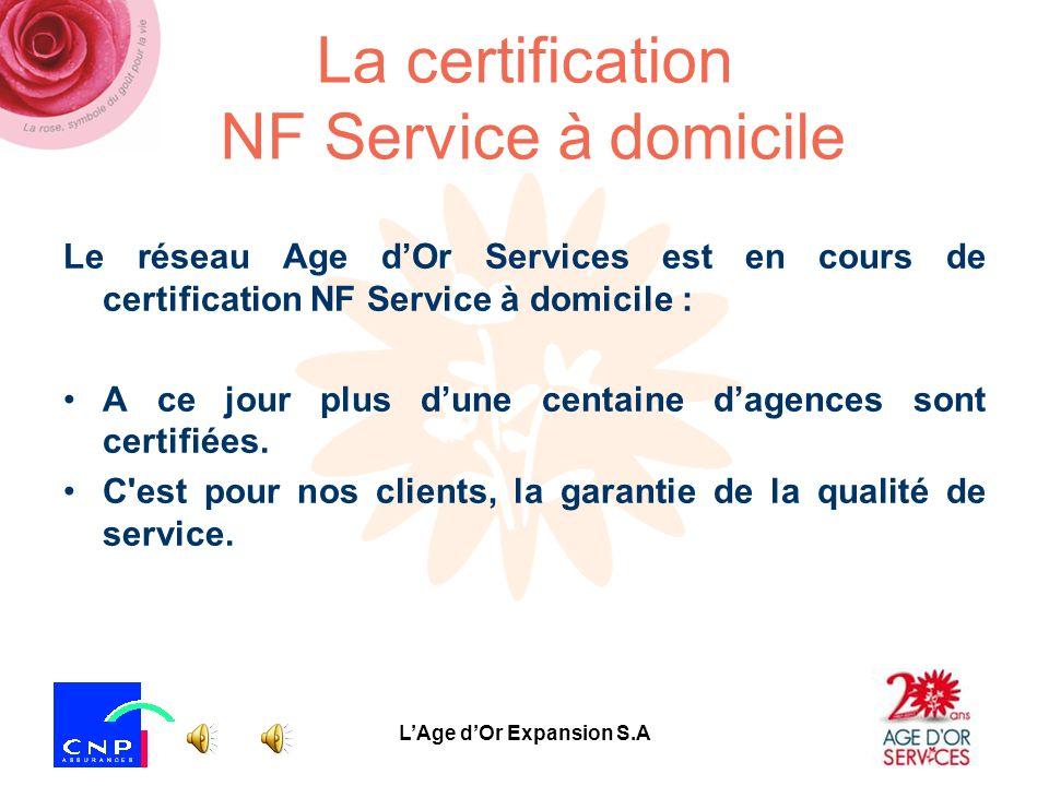 La certification NF Service à domicile