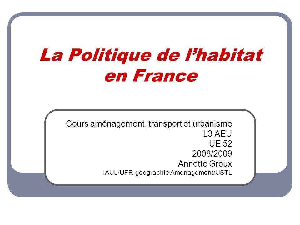 La Politique de l'habitat en France