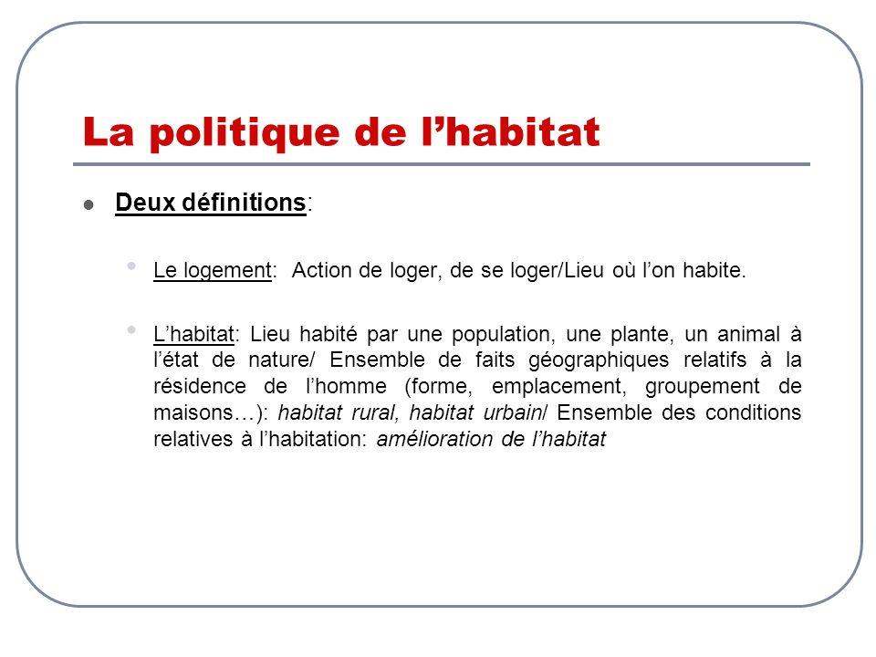 La politique de l'habitat