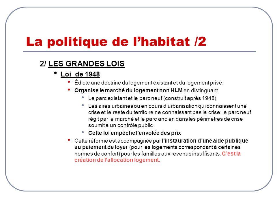 La politique de l'habitat /2