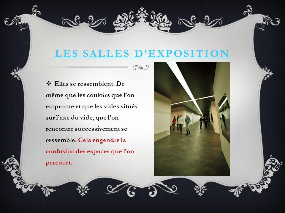 Les salles d'exposition