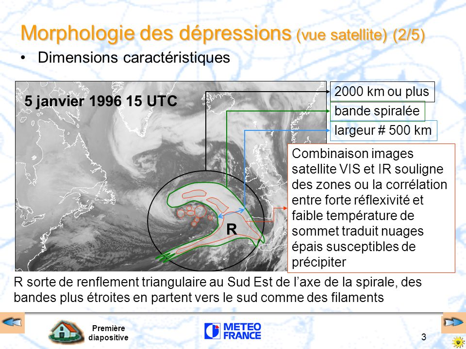 Morphologie des dépressions (vue satellite) (2/5)