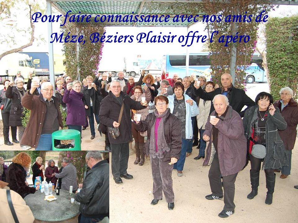 Pour faire connaissance avec nos amis de Méze, Béziers Plaisir offre l'apéro
