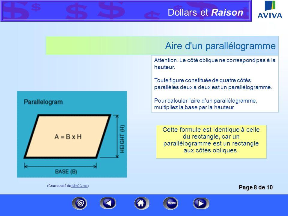 Aire d un parallélogramme