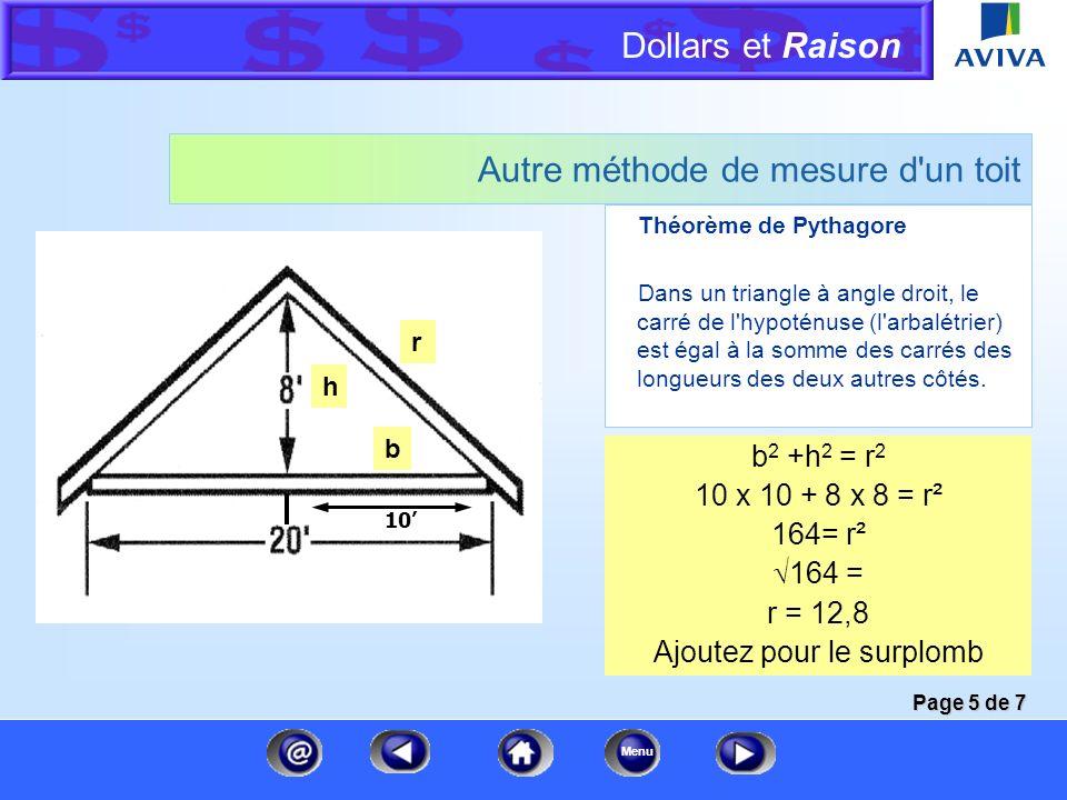 Autre méthode de mesure d un toit