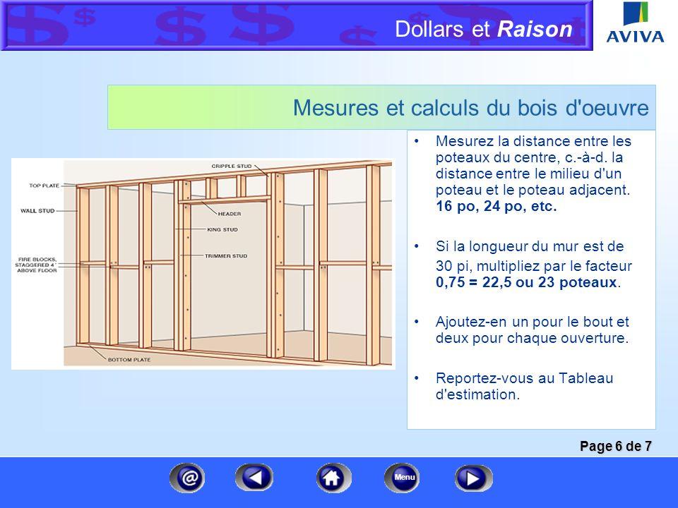 Mesures et calculs du bois d oeuvre