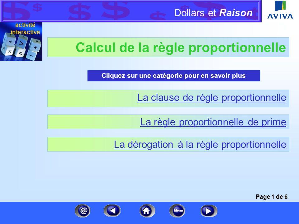 Calcul de la règle proportionnelle